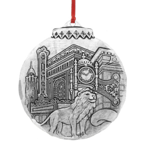 Chicago City Collectible Metal Christmas Ornament