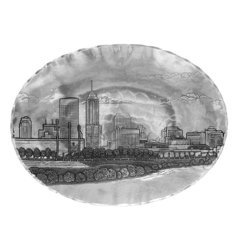 Indianapolis Skyline Small Oval Dish