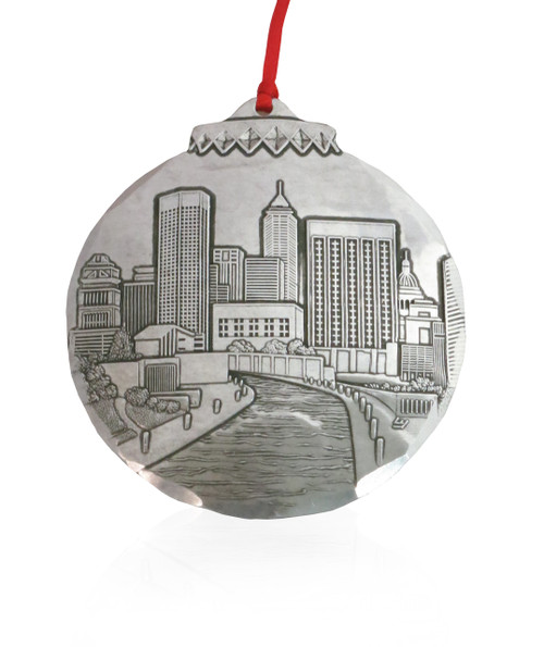 Indianapolis Skyline Collectible Christmas Ornament