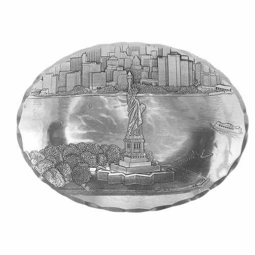 New York Skyline Statue of Liberty Small Oval Dish