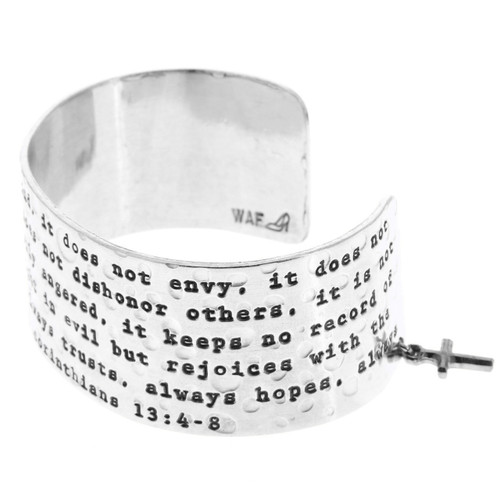 Faith First Corinthians Large Cuff Bracelet