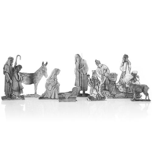 10 Piece Handcrafted Nativity Set