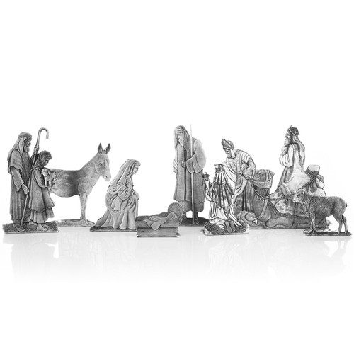 10 Piece Handcrafted Nativity Set