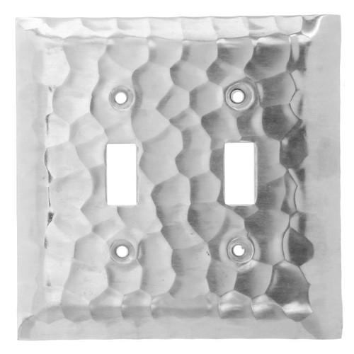Waterfall Double Switch Plate Cover (Aluminum)