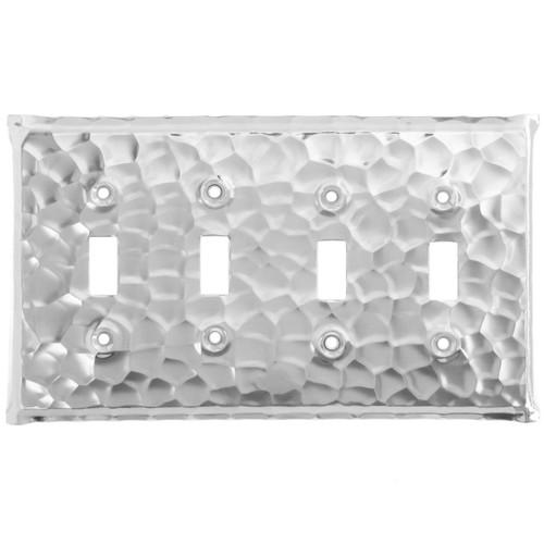 Waterfall Quad Switch Plate Cover (Aluminum)