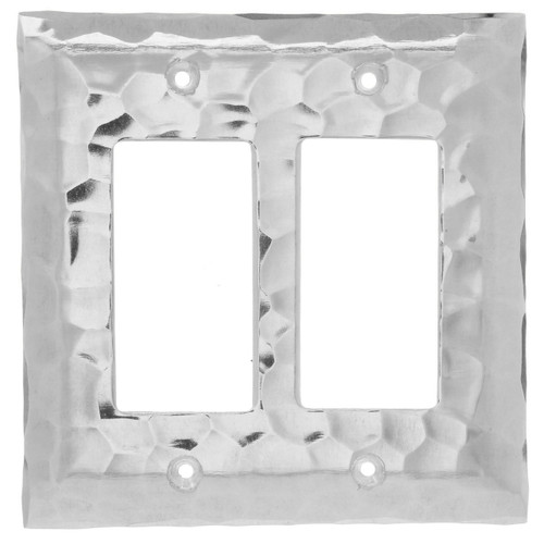 Waterfall Double GFCI Outlet Cover (Aluminum)