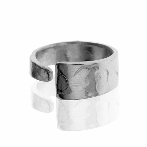Recycled Hammered Metal Handcrafted Ring