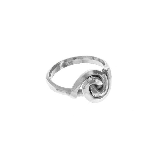 Upcycled Metal Spiral Rosebud Ring
