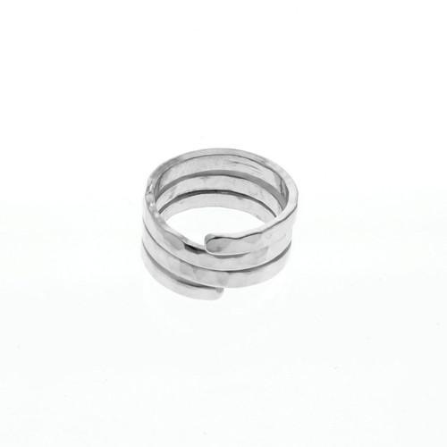 Upcycled Metal Spiral Fashion Ring