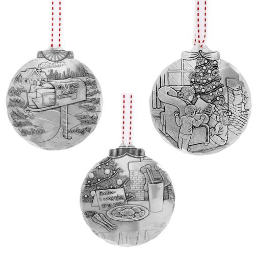 Waiting for Santa 3-Piece Ornament Set
