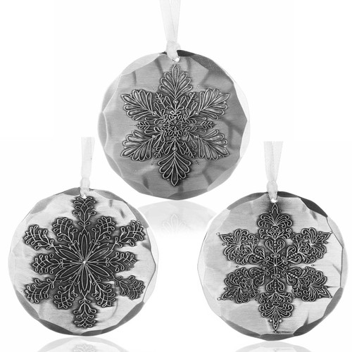 Snowflake Christmas Ornament Commemorative Gift Set