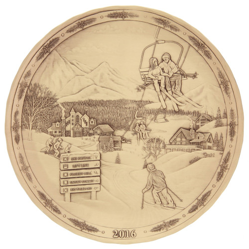 2016 Annual Plate - Magic of the Slopes (Bronze)