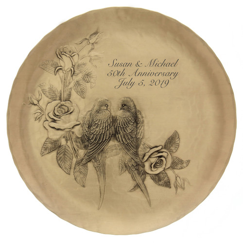 Personalized wedding or anniversary plate