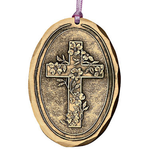 Dogwood Cross Religious Christmas Ornament