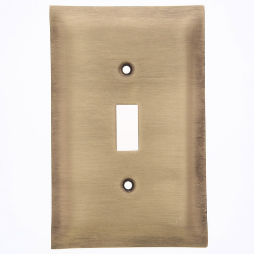 Brushed Bronze Single Switch Plate Cover