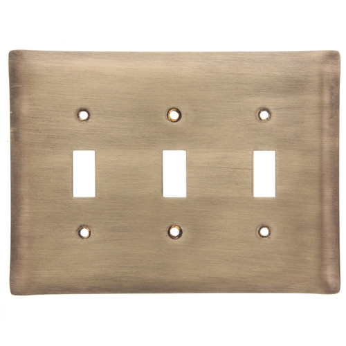 Brushed Bronze Triple Switch Plate Cover