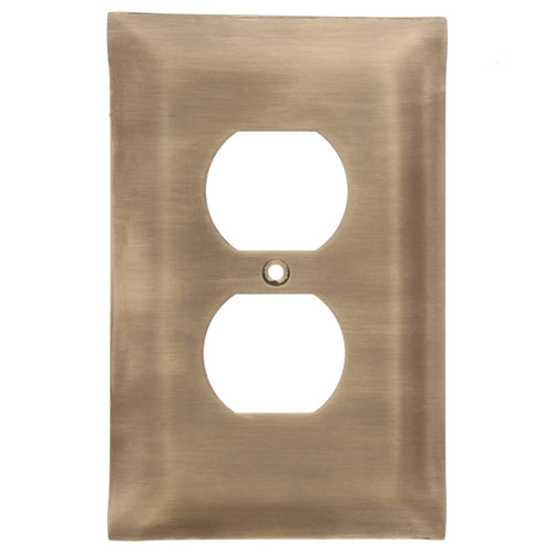Brushed Bronze Single Outlet Cover