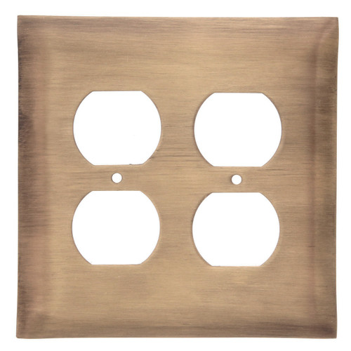 Brushed Bronze Double Outlet Cover