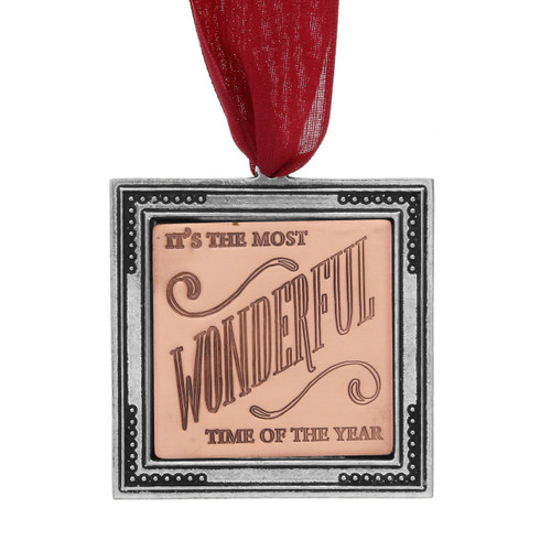 It's the Most Wonderful Time of the Year Ornament