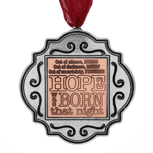 Hope Was Born That Night Ornament