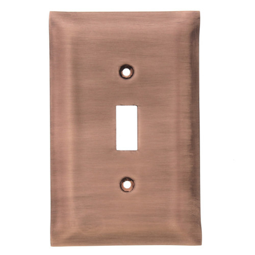 Brushed Copper Single Switch Plate Cover