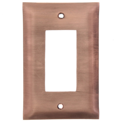Brushed Copper GFCI Outlet Cover