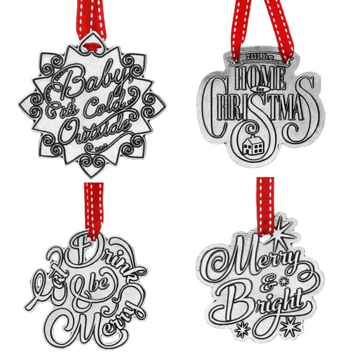 Holiday Cheer 4-Piece Ornament Set