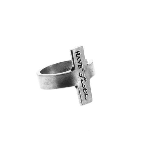 Have Faith Cross Ring