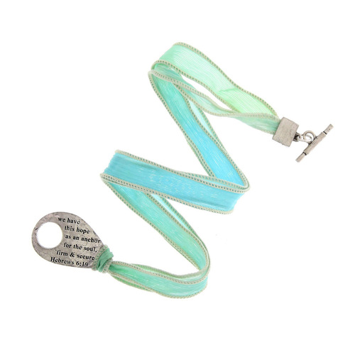 Faith Large Silk Hebrews Wrap Bracelet