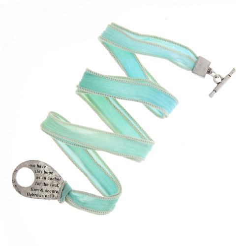 Faith Small Silk Hebrews Wrap Bracelet