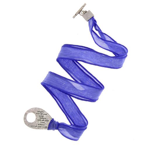 Faith Small Imagine Silk Wrap Bracelet