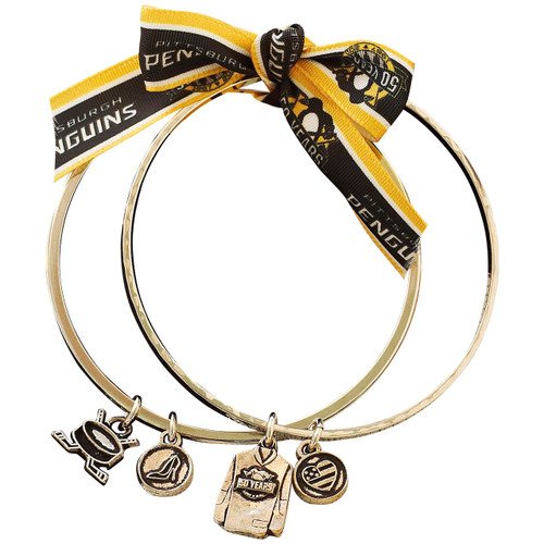 Pittsburgh Penguins 50th Anniversary Gold Jersey Double Bangle