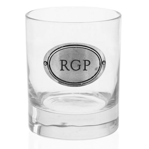 Personalized Oval Rocks Glass
