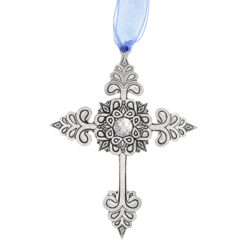 Grace Cross Ornament with Crystal