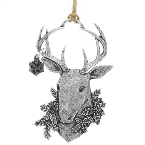 Winter Whitetail Deer Ornament