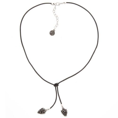 Pine Cone Legend Knotted Leather Necklace