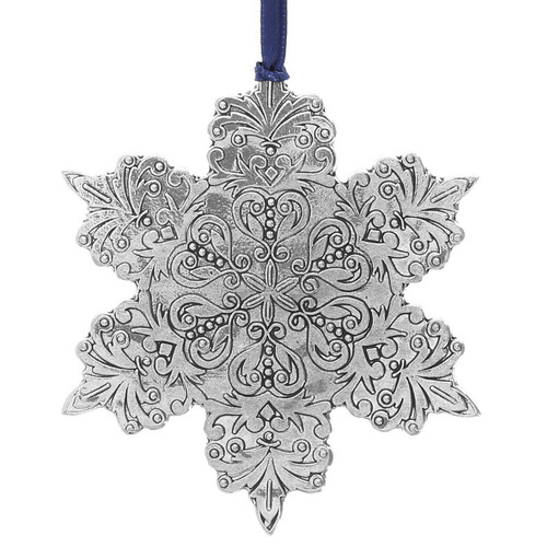 Intricate snowflake ornament