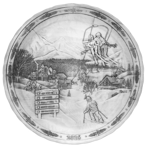 2016 Annual Plate - Magic of the Slopes (Pewter)