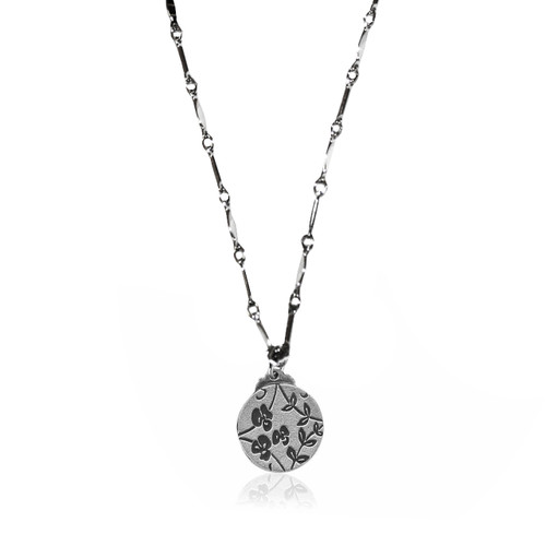 Sweet Pea Gratitude Charm Necklace