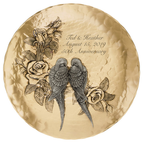Love Birds Personalized Wedding or Anniversary Plate