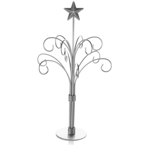 Ornament Tree - Silver 12 Branch