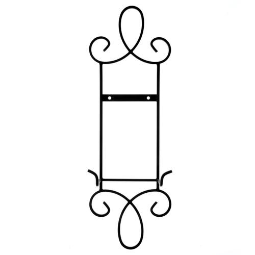 Black Single Narrow Plate Rack