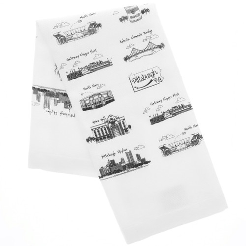 Pittsburgh Tea Towel for dishes