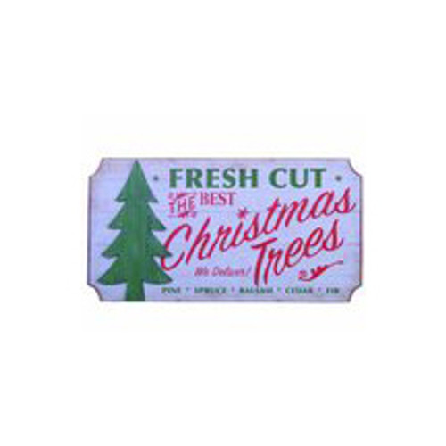 Fresh Cut Christmas Trees Wall Sign