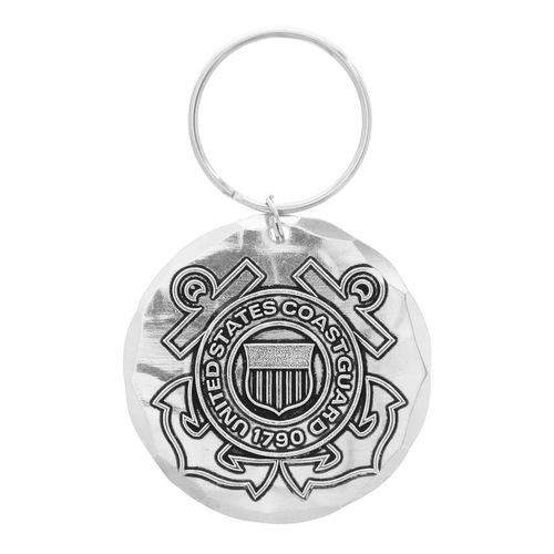 US Coast Guard Round Key Ring