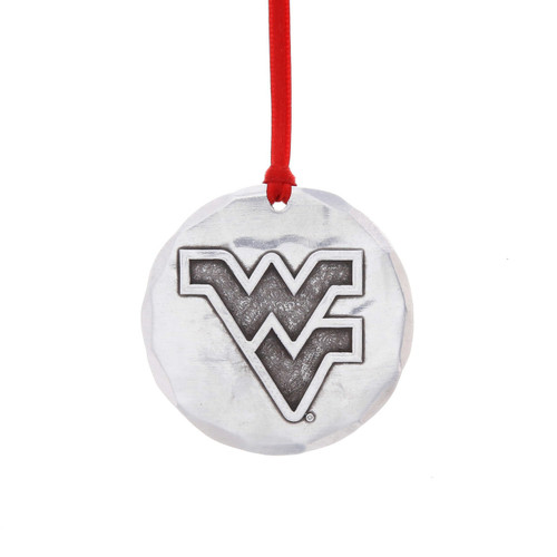 West Virginia University Round Ornament