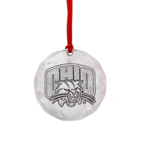 Ohio University Round Ornament