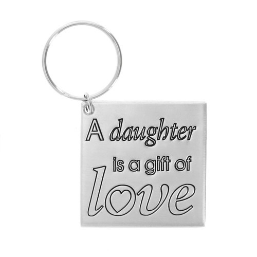 A Daughter is a Gift of Love Keychain