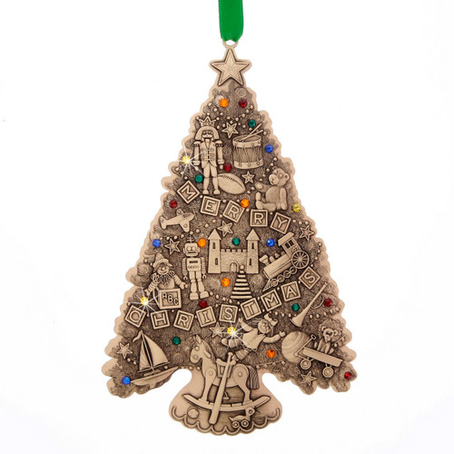 Limited Edition Oh Christmas Tree Ornament - Christmas Toys (Bronze)- Collectible, swarovski, swarovski crystal, christmas, christmas ornament