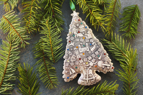 Christmas Tree Toys Decoration.Limited Edition Oh Christmas Tree Ornament Christmas Toys Bronze